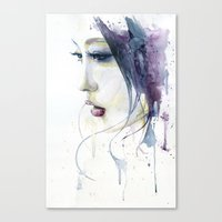 silent Canvas Prints featuring Silent by Cora-Tiana