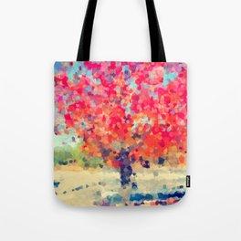 Orange Tree Watercolor digital Tote Bag