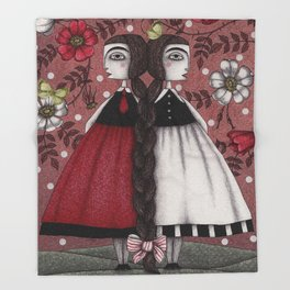 Snow-White and Rose-Red (1) Throw Blanket