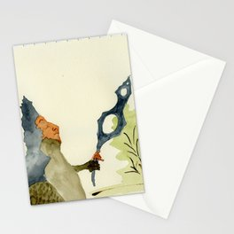 Walk with magnifier Stationery Cards