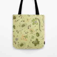 large flowers - greens Tote Bag