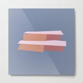 Abstract Stoop Metal Print