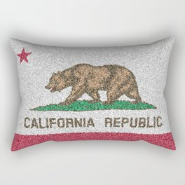 California Flag Distorted Rectangular Pillow