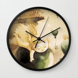 Angel with balloons  Wall Clock