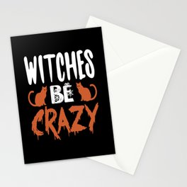 Halloween Witches Are Crazy Stationery Cards