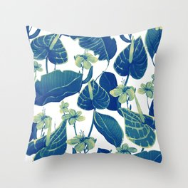 pure blue nature Throw Pillow