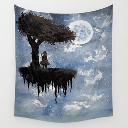 The Girl Among The Stars Wall Tapestry