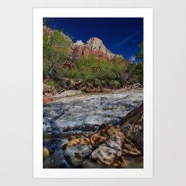 Virgin_River 8457 - Zion_National_Park, Utah Art Print