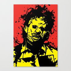 August 18, 1973: Bloodstain Leatherface (color combination A) Canvas Print