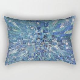 Abstract blue pattern 5 Rectangular Pillow