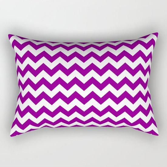 Chevron (Purple/White) Rectangular Pillow