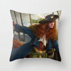 Pirate Queen Throw Pillow