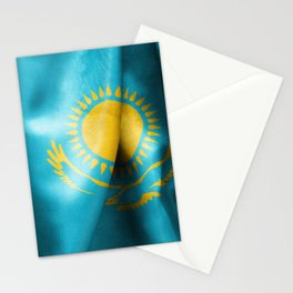 Kazakhstan Flag Stationery Cards