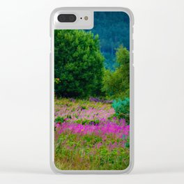 Scottish Heather Clear iPhone Case