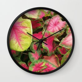 Colorful Caladium Wall Clock