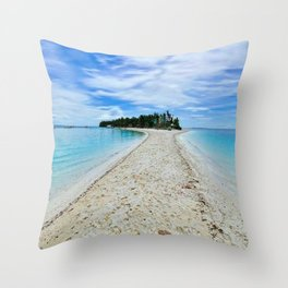 Small Island With White Sand Throw Pillow