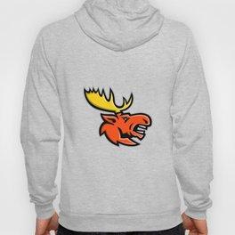 Angry Moose Head Mascot Hoody
