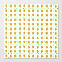Carrot and peas or petits pois carotte Canvas Print