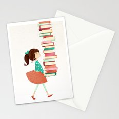 Library Girl Stationery Cards