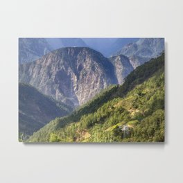 High in the Mountains - Himalayas of Bhutan Metal Print