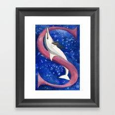 S is for Spinner Dolphin Framed Art Print