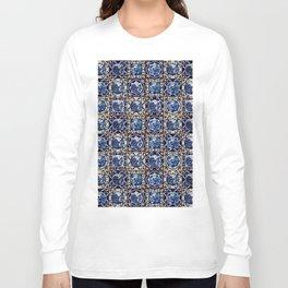 Blue Willow Tiles Long Sleeve T-shirt