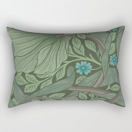 William Morris Art Nouveau Forget Me Not Floral Rectangular Pillow
