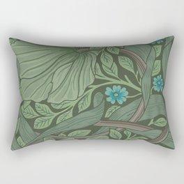 William Morris Art Nouveau Forget Me Not Floral Rectangular Pillow