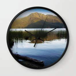 Lake Crescent I Wall Clock