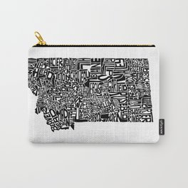 Typographic Montana Carry-All Pouch