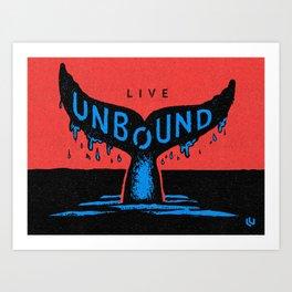 Unbound Whale Art Print