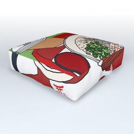 Happy Dim Sum Platter Outdoor Floor Cushion