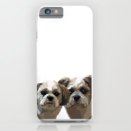Frankie and Jessie the Shih Tzu dogs iPhone Case