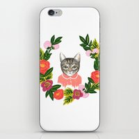 leah flores iPhone & iPod Skins featuring Scout con Flores by Leah Romero