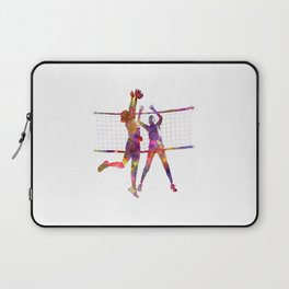Women volleyball players in watercolor Laptop Sleeve