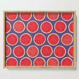 watermelon polka purple Serving Tray