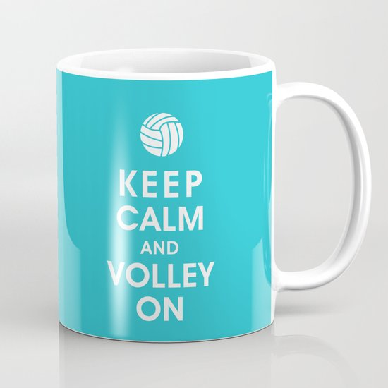 Keep Calm and Volley On (For the Love of Volley Ball) Mug