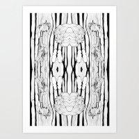 Cactus Art Black&White Vertical Art Print