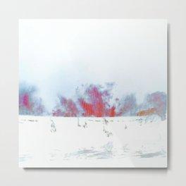 Flaming Sea Metal Print