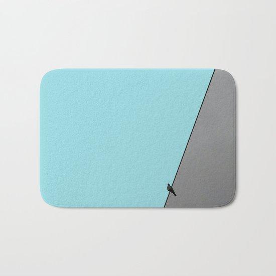 Solitude in blue Bath Mat
