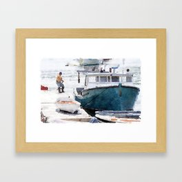Lobster Boat Framed Art Print
