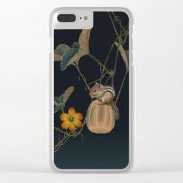 Gourd Vine and Chipmunk Clear iPhone Case