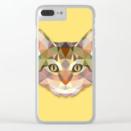 Geometric Cat Clear iPhone Case