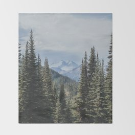 Garibaldi Provincial Park II Throw Blanket