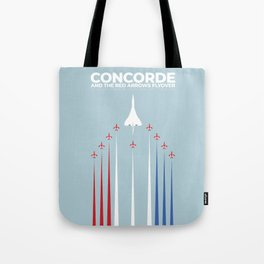 Concorde And The Red Arrows Flyover Tote Bag