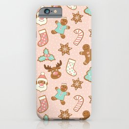 Christmas gingerbreads iPhone Case