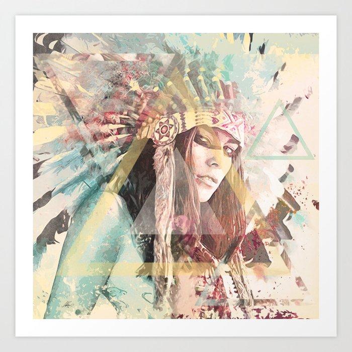 IND Girl Art Print