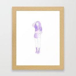 Typical Girl Katherine Framed Art Print