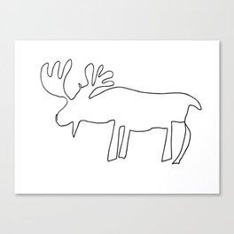 Line Moose Canvas Print