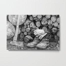 Manual Labor - Firewood 1 Metal Print